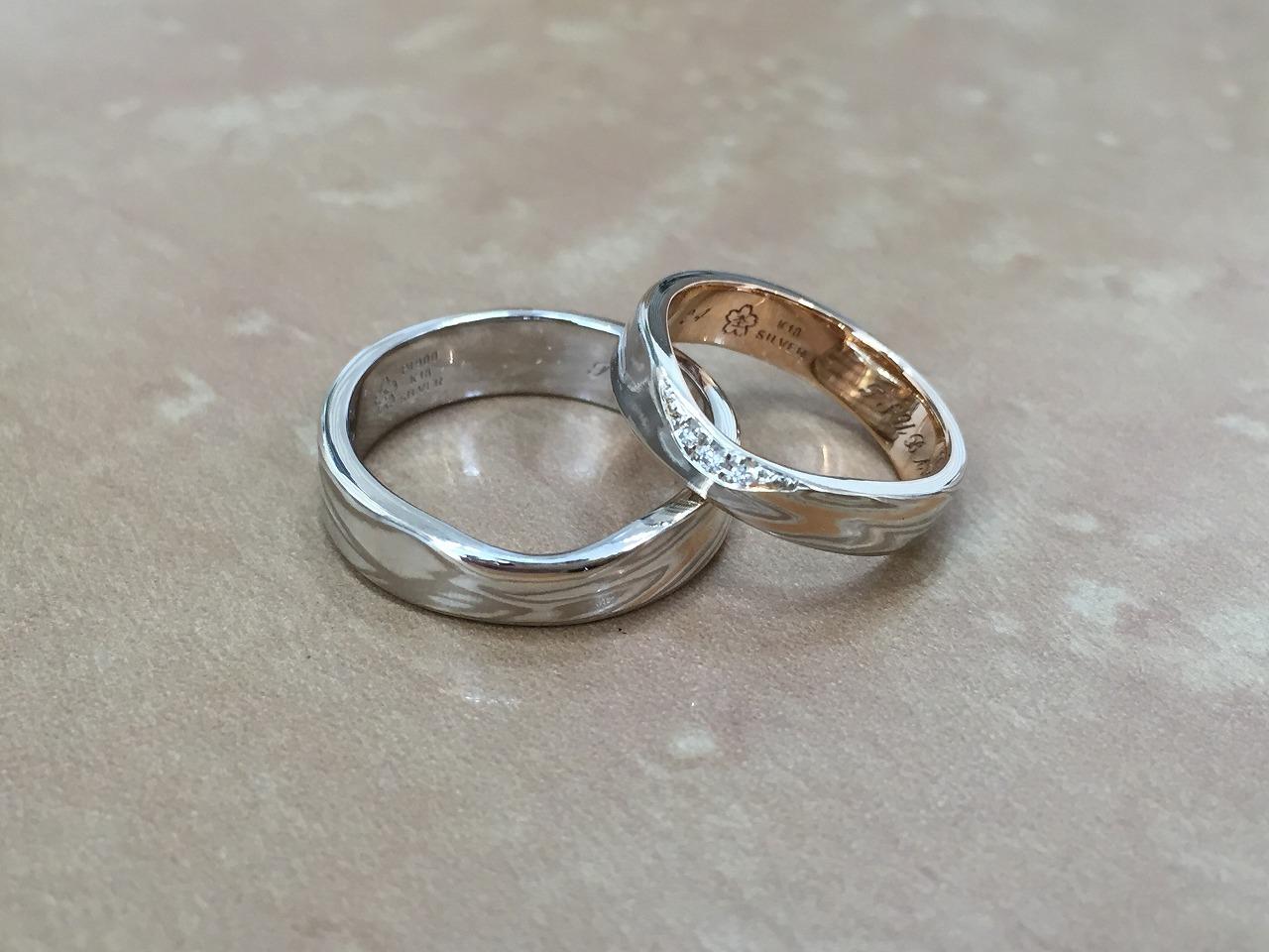 結婚指輪、オーダーメイド、富山、杢目金