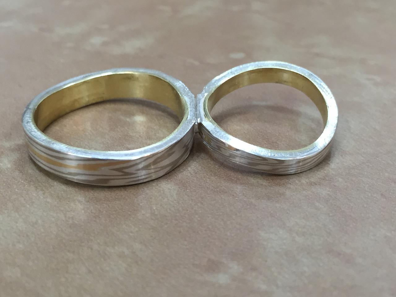 杢目金、結婚指、オーダーメイド、富山、分かち合い、つながるかたち