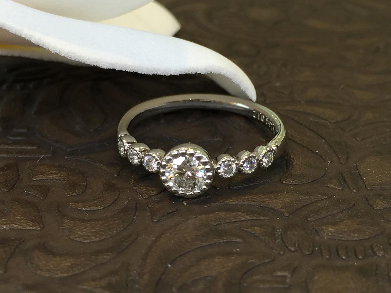 シェールラブ、婚約指輪、アンティーク調