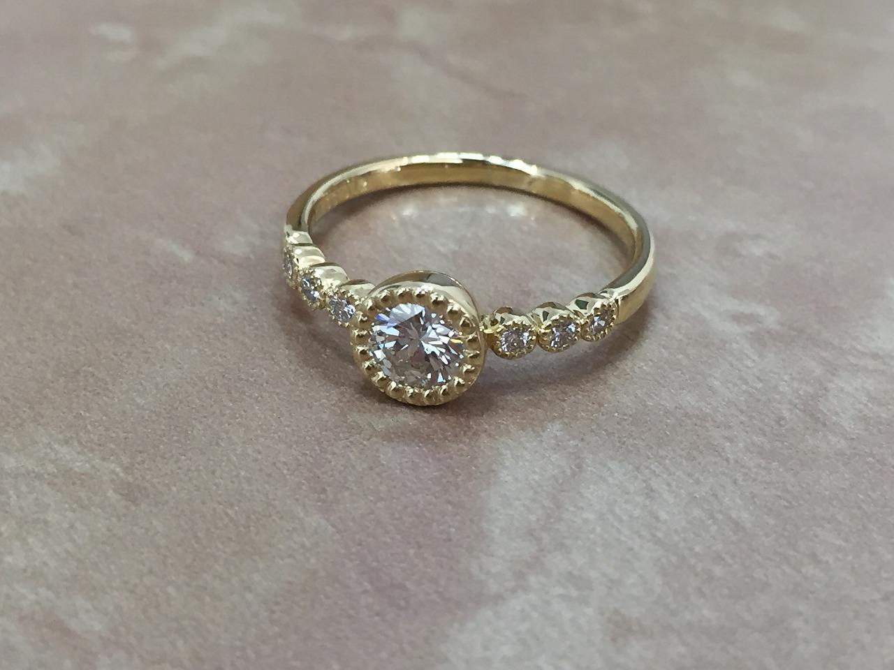 婚約指輪、シェールラブ、アンティーク調